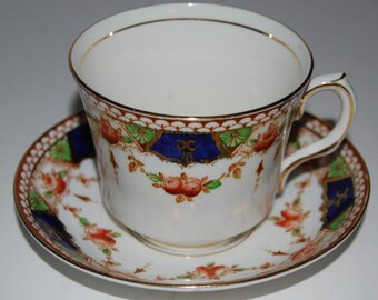 Vintage ROSINA Bone China Tea Cup and Saucer #3834