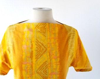 Vintage 60s Top | Bali Beach | Cotton Blouse | Medium M
