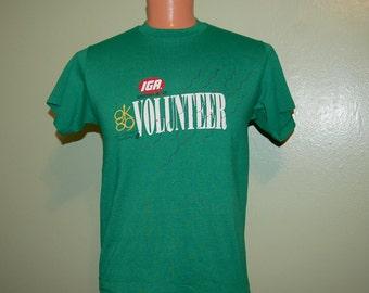 Vintage Deadstock/Nos 1989 IGA OK '89 US Olympics Volunteer New Shirt Men's Large- 80s Vintage Hef-T Shirt