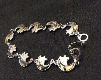 Vintage Moon & Star Bracelet