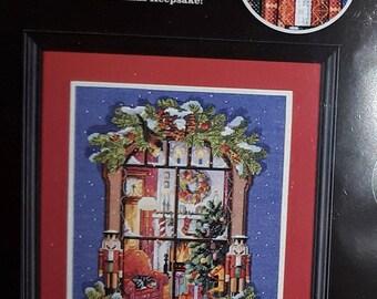 "Zweigart ""Christmas Window"" artiste Counted Cross Stitch Kit, Approx. 11"" x 14"" Kooler Design Studios"