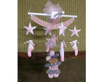 Ballet Hippo Mobile, Newborns Nursery Crib Decor, Baby Shower Gift