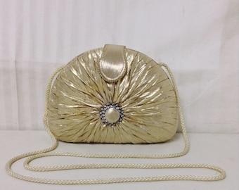 Sasha,box purse, Gold Lemme, Formal, Purse,bag, Rhinestones