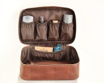 Toiletry bag men - Personalized mens toiletry bag - Leather toiletry bag - Monogrammed toiletry bags - Personalized dopp kit - Shaving kit