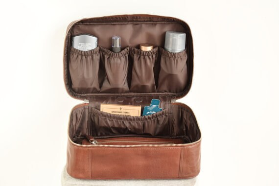 Finest Toiletry bag men Personalized mens toiletry bag Leather NC94
