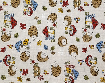 Hedgehog Fabric: Seven Islands Fabrics