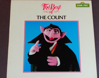 "RARE The Best of the Count - Sesame Street 1983 Children's Record - ""Counting Is Wonderful"" - Vintage Vinyl LP Album"