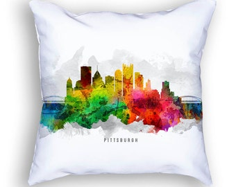 Pittsburgh Pillow, 18x18, Pittsburgh Skyline, Pittsburgh Cushion, Pittsburgh Pillow, Throw Pillow, Home Decor, Gift Idea, Pillow Case 12