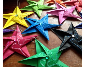 Hand-Folded Origami Paper Star ~ Wedding ~ Favours Favors ~Place Card ~Decoration ~Gift Tag