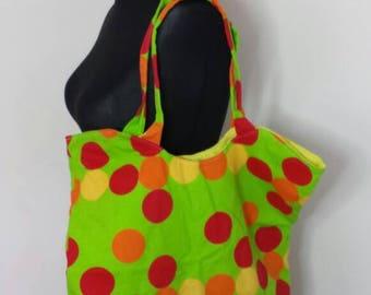 Spot Large Tote, Women's Tote, Women's Large Bag, Fabric Tote Bag, Eco Bag, Cotton Tote Bag, Reusable Bag, Large Handbag, Large Tote Bag
