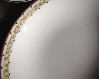 Albany Haviland Limoges Bowls Fruit / Sauce / Dessert Greek Key Schleiger 107a Antique Set 6 ~ #11006