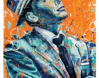 Frank Sinatra - Ol' Blue Eyes - 12 x 18 High Quality Art Print