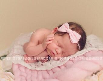 Bow Headband, Pink Bow Headband, Pink Bow, Bow, Hair Bow, Pink Hair Bow, Photography Prop, Headband, Newborn Headband, Baby Headband,