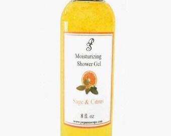 Sage and Citrus  Moisturizing Shower Gel 8 oz ~Bath Care~Shower~Skin Care~