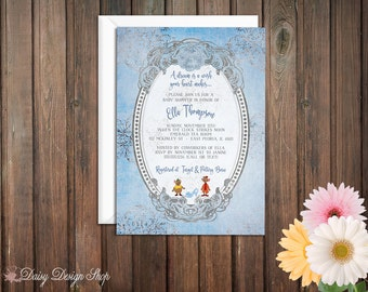 Baby Shower Invitation - Princess Cinderella with Damask and Frame