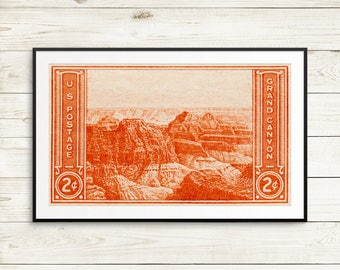 Grand Canyon, National Park Service, NPS, Grand Canyon posters, Grand Canyon art, National Park posters, USA postage, postage stamp art