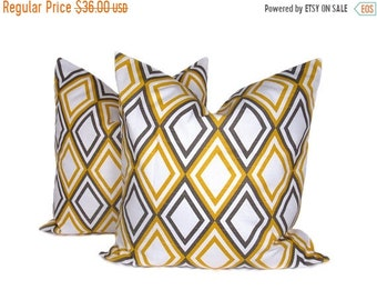 15% Off Sale Yellow Pillow Cover Decorative pillows ,Yellow Pillow, Gray Pillow , Pillow SET ,Accent pillow, Toss pillows, Throw pillows, Gr