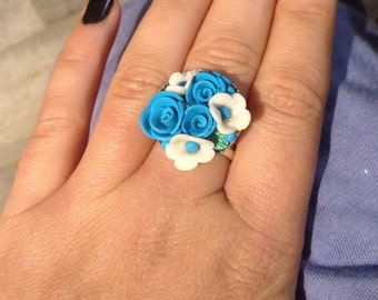 Ring handmade in fimo