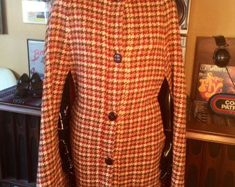 Vintage 50's-60's Houndtooth Cape