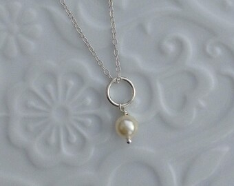 Swarovski Pearl sterling silver necklace