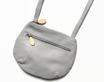 shoulder bag purse, small shoulder bag, vegan leather bag, crossbody pouch, gray crossbody bag, vegan crossbody, crossbody leather purse