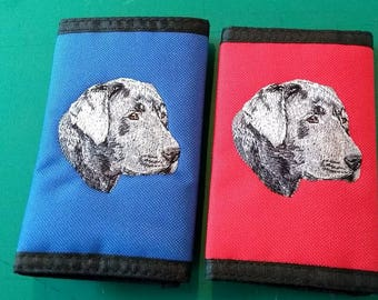 Embroidered Black Labrador Wallets