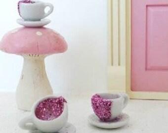 Fairy Tea party tea set - fairy door accessory