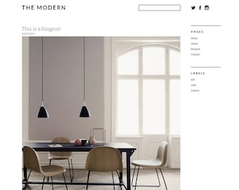 Blogger template 'The Modern'