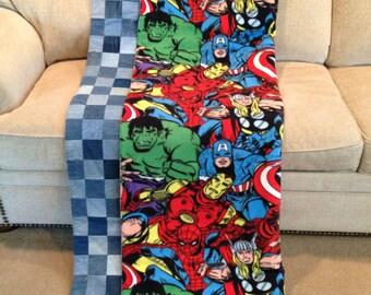 Handmade Avengers Jean Quilt