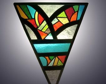 Kaleidoscope Stained Glass Panel