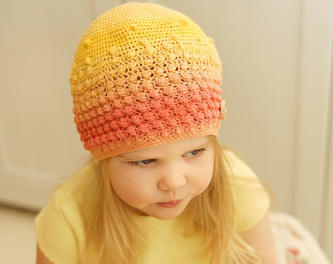 CROCHET PATTERN light puff stitch beanie Matilda (toddler/ child sizes)