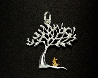 1 of 925 Sterling Silver Tree of Life Pendant 18x20 mm.Polish Finished  :tm0034