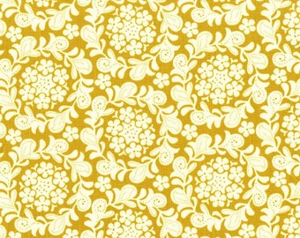SALE Petit Henna garden in Honey from the Strawberry Moon fabric collection by Sandi Henderson of Portabellopixie for Michael Miller