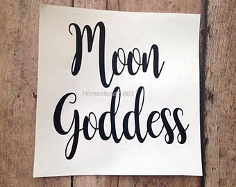 Moon Goddess Decal, Tumbler Decal, Gifts for Her, Car Decal, Vinyl Decal, Coffee Mug Decal