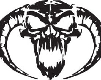 Demon Skull Decal - Multiple Colors Available