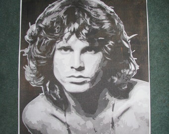 Jim Morrison Multilayer Stencil Art Print