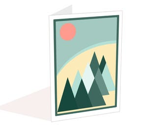 Scandi blank card, Minimalist card, Invites, Write your own message, Notecard with envelope, Anniversary, Birthday card, Thank you card,