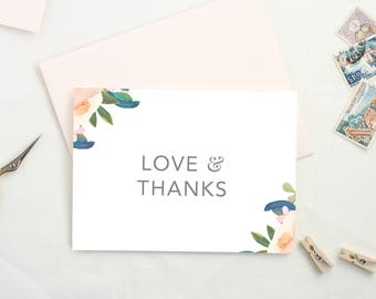Thank You Cards. Wedding Thank You Card Set. Thank You Notes. Floral Thank You Card. Wedding Card Set. Thank You Cards for Shower Gift. TY20