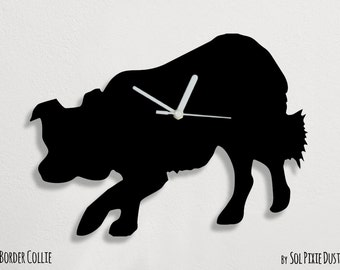 Border Collie Dog - Wall Clock