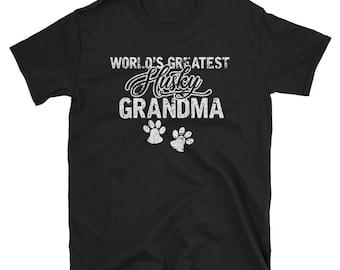 husky grandma shirt - siberian husky shirt - husky mom shirt - husky dog tee - husky owner shirt - husky lovers tee - husky apparel