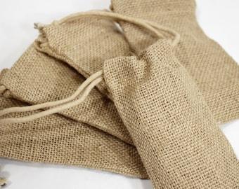 Burlap Bag (6) * 3 x 5 * packaging supplies * bridal shower * wedding * rustic * burlap