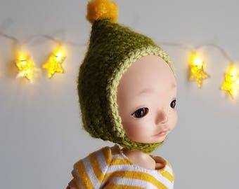 Green gnome hat for Irrealdoll, Lati Yellow