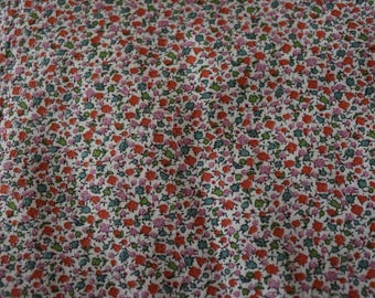 30 Vintage Calico Red and Pink and Green