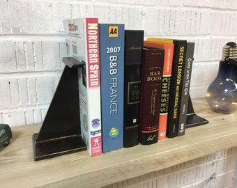Industrial RSJ Metal Bookends - shelf decor retro steampunk art