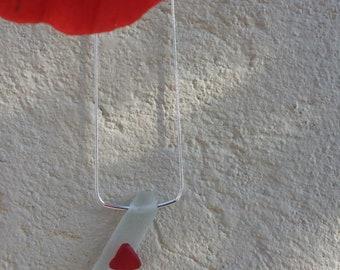 Handmade sea glass pendant