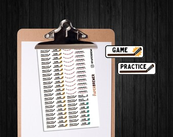 Small Hockey Planner Sticker Set