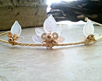 Gold Frost Princess Tiara Circlet Crown in Custom Colors
