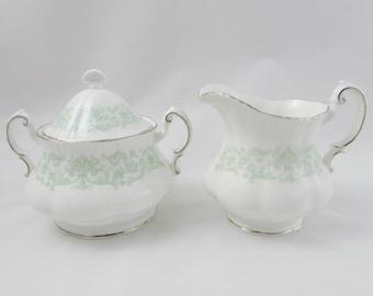 Melanie Creamer and Sugar Bowl with Lid, Paragon Vintage Bone China