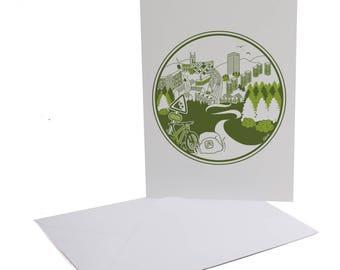 Parkwood Springs Sheffield Greetings Card