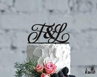 Custom monogram Wedding Cake Topper,Initials Personalized Cake Topper for Wedding,Personalized Wedding Cake Topper,Monogram Cake Topper